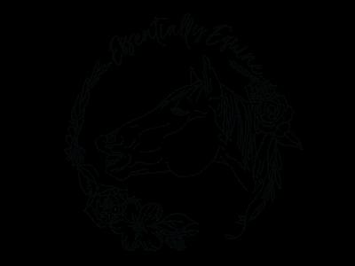 Essentially Equine Logo illustration caligraphy horse logo horse
