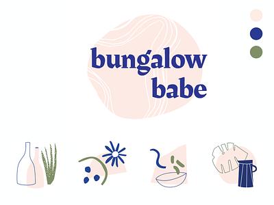 Bungalow Babe Logo & Branding freelance logo branding design branding