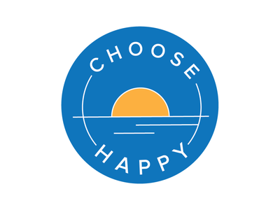 Choose Happy Logo small business logos branding graphicdesign illustration