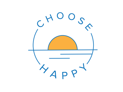 Choose Happy Logo beach smallbusiness design logo branding