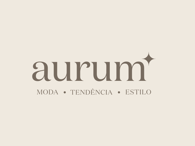 Aurum Logo smallbusiness logo design modal brazilian portugese retail branding logo