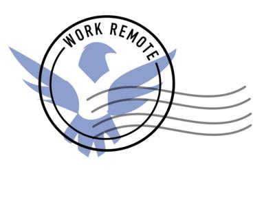 Work Remote Logo vector illustration branding bird freedom logo work remote