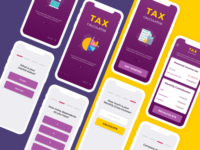 Tax Calculator  #004 #DailyUI