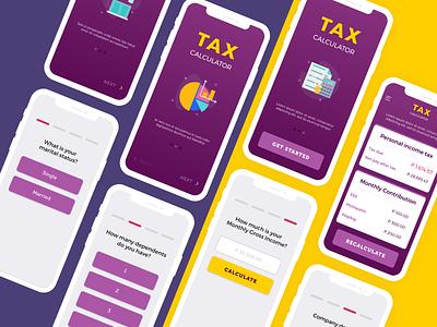 Tax Calculator  #004 #DailyUI ui design calculator app illustration dailyui dailyui004 mobile app tax calculator calculator ui