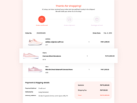 Email Receipt #017 #DailyUI