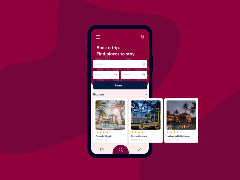 Search  #022 #DailyUI look find place hotels hostel house app book trip search engine search search box search bar