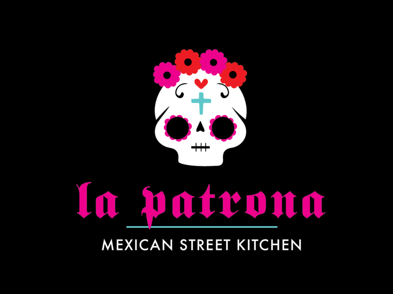 La Patrona branding logo vector design contemporaryart illustration