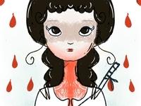 The bloody queen