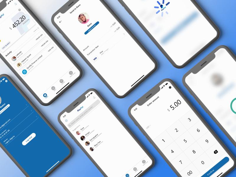 paypal redesign identity typography branding design app ux ui
