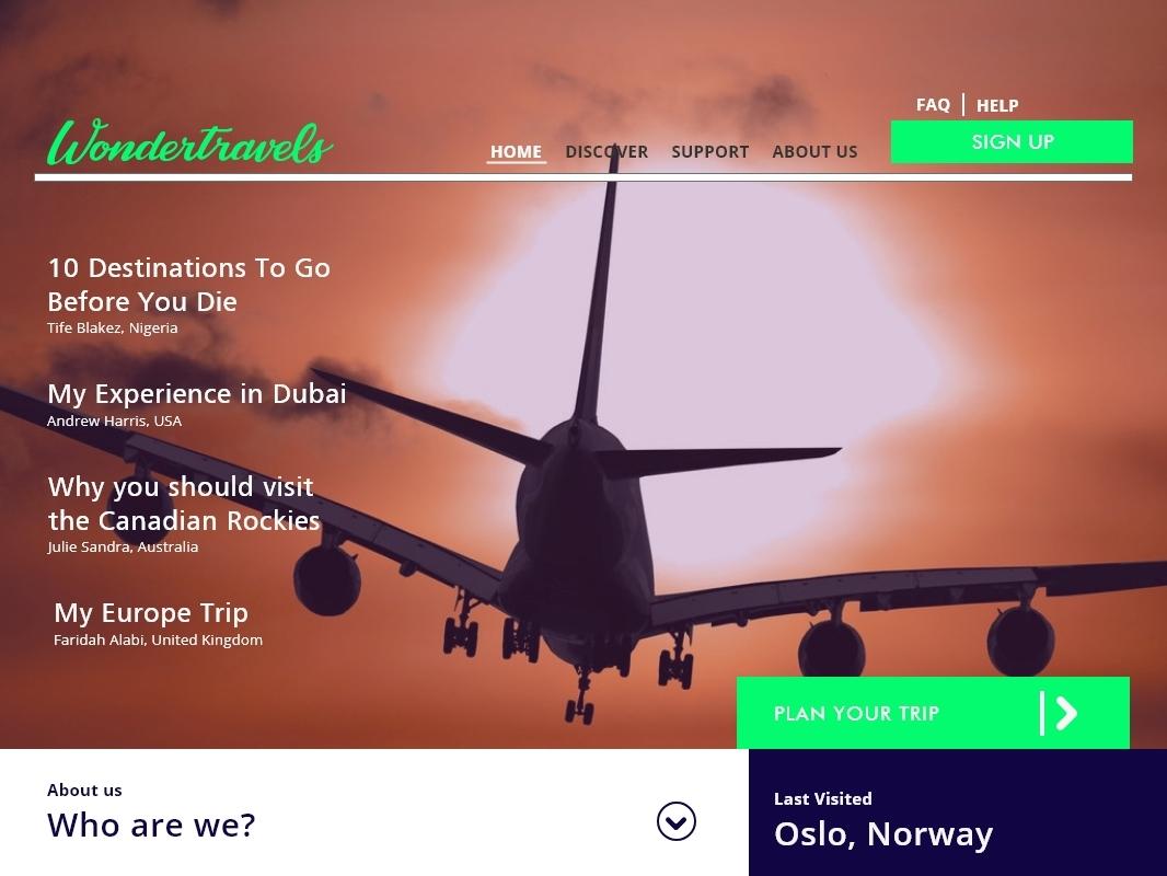 travel website mobile flat vector branding typography identity clean web design ux ui