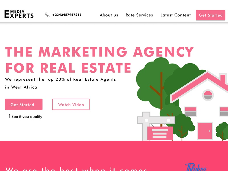 marketing agency type illustration website flat clean web typography branding design ui ux