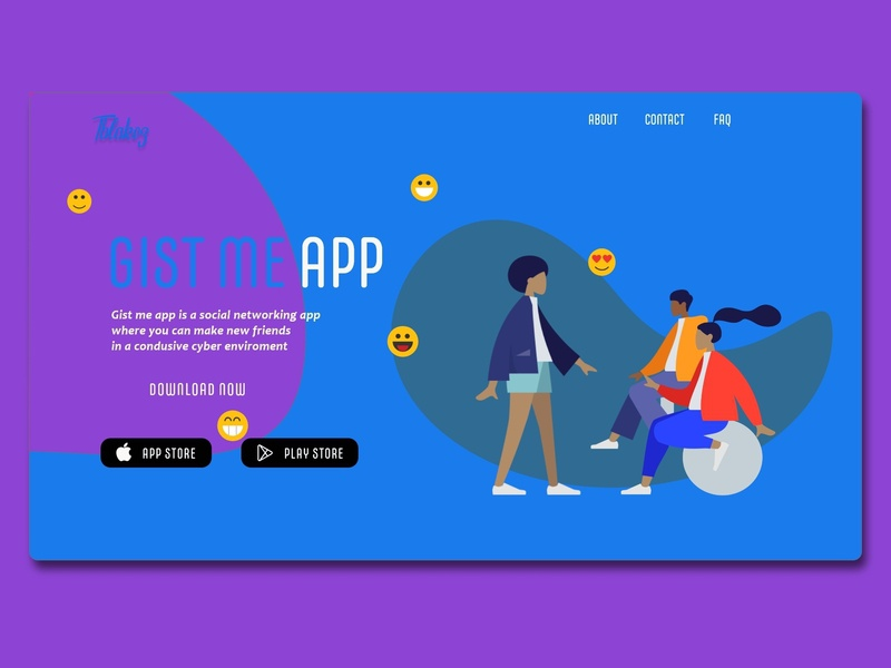 download landing page character illustrator flat website lettering logo ios clean app typography icon vector ui ux illustration web design