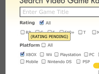 Found verdana futura gaming tooltip grey yellow method checkbox submit form