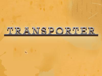 Transporter badge aluminium aluminum metal automotive vw volkswagen rebound rockwell