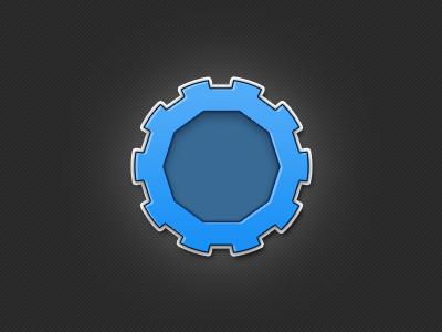 New mechanical logo blue logo dark branding photoshop web design