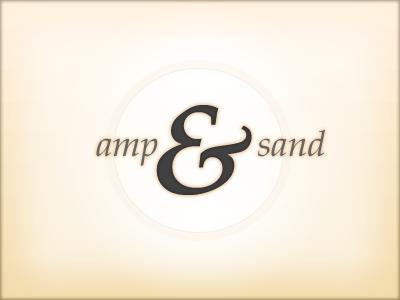 Amp & Sand ampersand logo mark palatino type brown