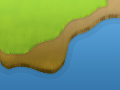 The Stage water dirt grass game background