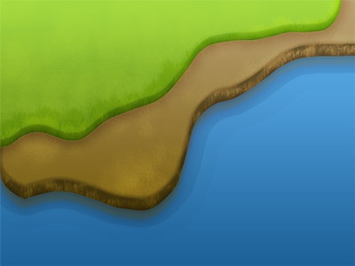 The Stage 2 water dirt grass game background