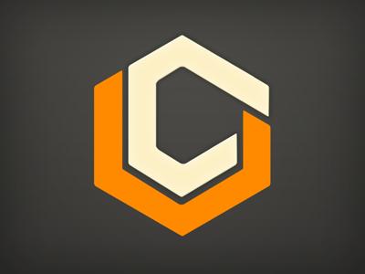Cube Mark logo cube mark orange