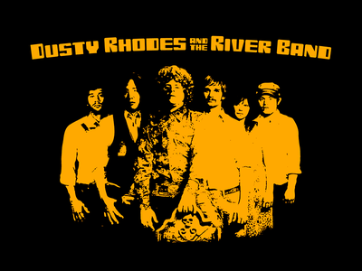 Dusty Rhodes and the River Band t-shirt
