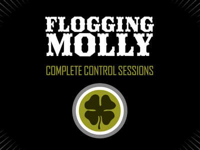 Flogging Molly Complete Control Sessions lp ep album cover side one dummy flogging molly green black punk