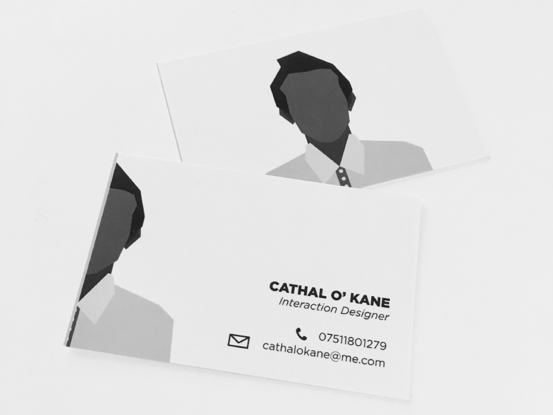 My Business Card simple cathalokaneinfo cathalokane cathal layout business cards