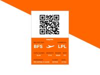 Daily UI #15 - Boarding Pass
