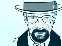 Walter White white walter portrait illustration fan cathalokaneinfo cathalokane cathal bryan breaking bad art