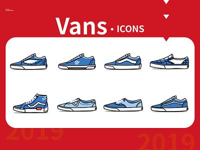 Vans shoes icons run vans shoes simple footwear ui design illustration