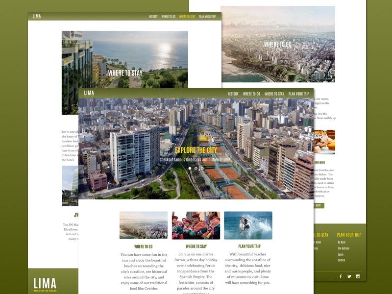 Lima, Peru - Travel/Tourism Website website mockup tourism travel latin america central america peru lima