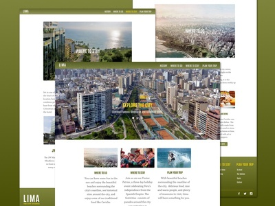 Lima, Peru - Travel/Tourism Website