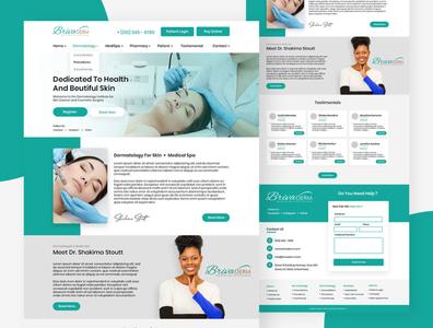 Web Design Concept For Medical Spa