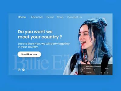 Web Design Explore UX/ UI Design
