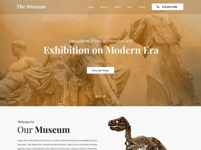 Art Gallery and Museum website Design