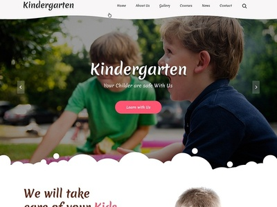 Kindergarten website design