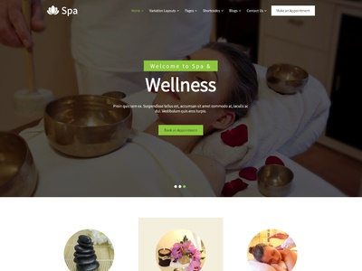 Health & Beauty Ecommerce Website Template