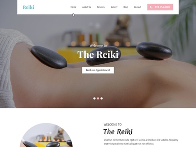 Healing Website Template