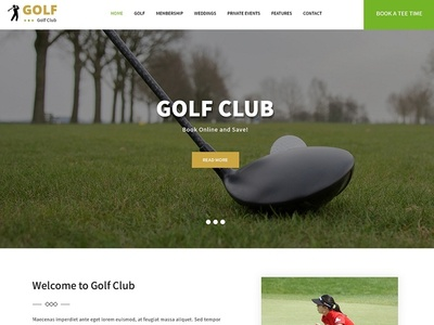 Design a Golf Club Website