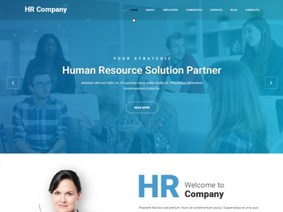 Job consultancy website template