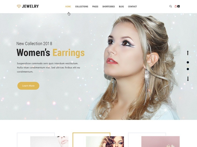 Jewelry Ready-made Website Template ux web design wordpress theme wordpress template wordpress development wordpress design website builder theme design