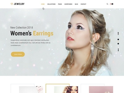 Jewelry Ready-made Website Template
