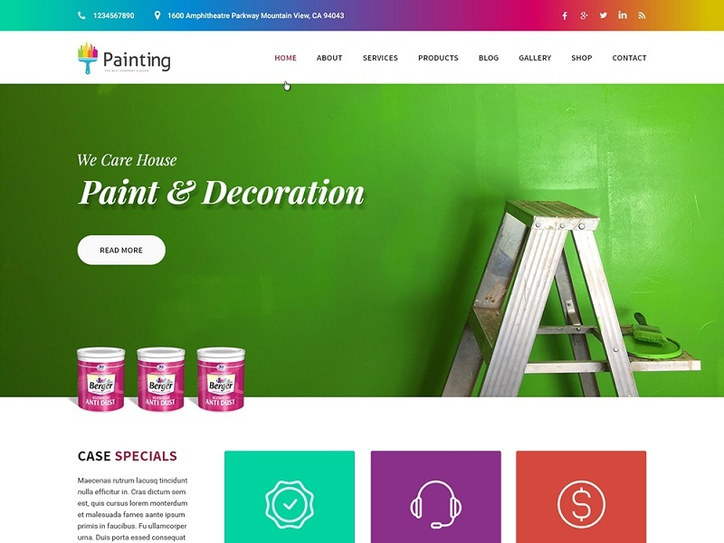 Painting Contractor Website Design web design wordpress theme wordpress template wordpress development wordpress design website builder theme design