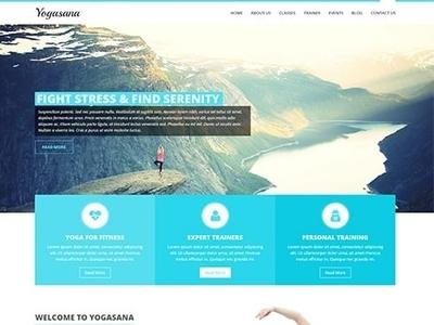 Yoga Website Design and Yoga Studio Website Design ux web design wordpress theme wordpress template wordpress development wordpress design website builder theme design