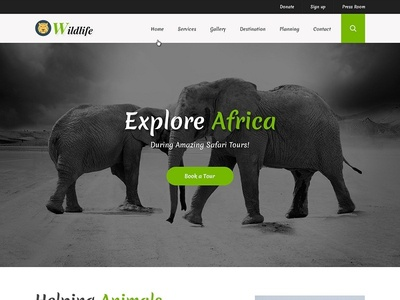 Wild Life Website Template