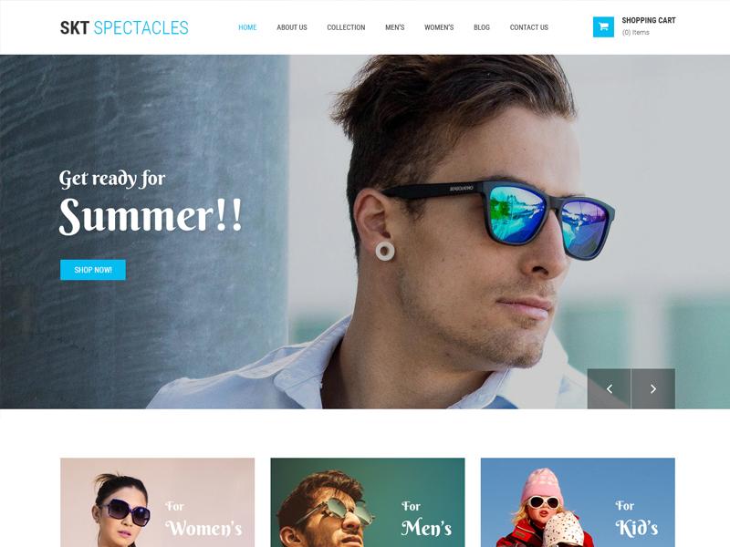 Ready-made Eyewear Store Website Template ux web design wordpress theme wordpress template wordpress development wordpress design website builder theme design