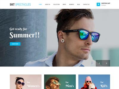 Ready-made Eyewear Store Website Template