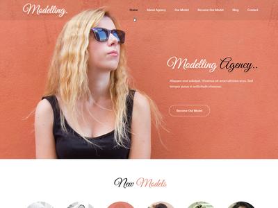 Model Portfolio Website Template