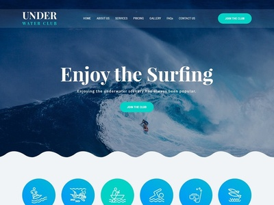 Scuba Diving Underwater Website Theme & Template web ux design wordpress theme wordpress template wordpress development wordpress design website builder theme design