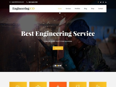 Professional Engineering Website Design & Template by SKT Themes on