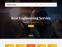 Professional Engineering Website Design & Template